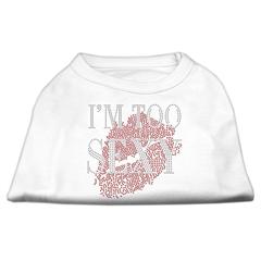 Mirage Pet Products I'm Too Sexy Rhinestone Shirts White XL (16)