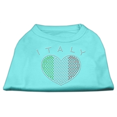Mirage Pet Products Italy Rhinestone Shirts Aqua XXL (18)