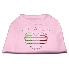 Mirage Pet Products Italy Rhinestone Shirts Light Pink L (14)