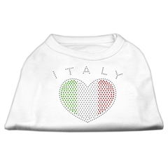 Mirage Pet Products Italy Rhinestone Shirts White XS (8)