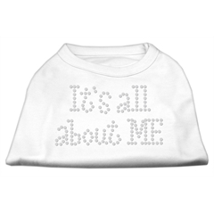 Mirage Pet Products It's All About Me Rhinestone Shirts White M (12)