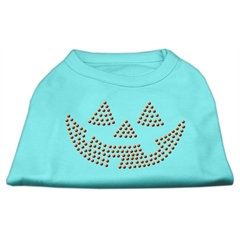 Mirage Pet Products Jack O' Lantern Rhinestone Shirts Aqua XXXL(20)