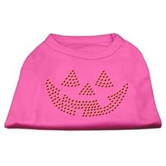 Mirage Pet Products Jack O' Lantern Rhinestone Shirts Bright Pink XXL (18)