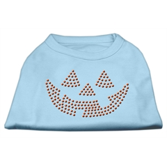 Mirage Pet Products Jack O' Lantern Rhinestone Shirts Baby Blue XXXL(20)