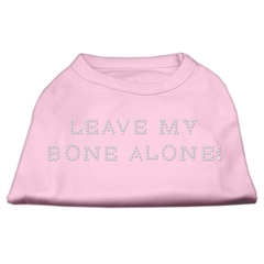 Mirage Pet Products Leave My Bone Alone! Rhinestone Shirts Light Pink XXL (18)