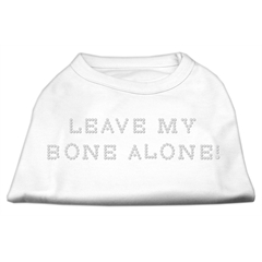 Mirage Pet Products Leave My Bone Alone! Rhinestone Shirts White XS (8)