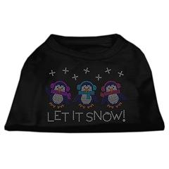Mirage Pet Products Let It Snow Penguins Rhinestone Shirt Black XL (16)