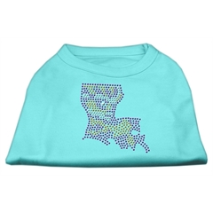 Mirage Pet Products Louisiana Rhinestone Shirts Aqua S (10)