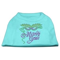Mirage Pet Products Mardi Gras Rhinestud Shirt Aqua XXL (18)