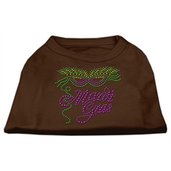 Mirage Pet Products Mardi Gras Rhinestud Shirt Brown XXXL (20)