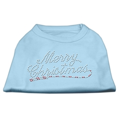 Mirage Pet Products Merry Christmas Rhinestone Shirt Baby Blue S (10)
