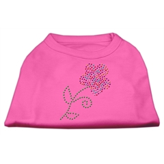Mirage Pet Products Multi-Colored Flower Rhinestone Shirt Bright Pink S (10)