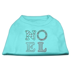 Mirage Pet Products Noel Rhinestone Dog Shirt Aqua Sm (10)