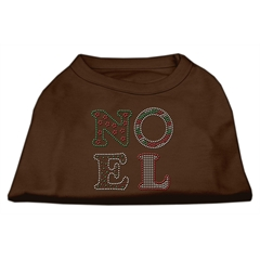 Mirage Pet Products Noel Rhinestone Dog Shirt Brown XL (16)