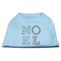 Mirage Pet Products Noel Rhinestone Dog Shirt Baby Blue Lg (14)