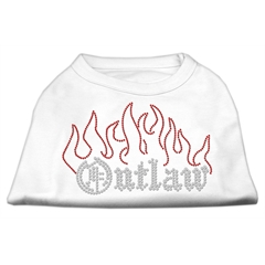 Mirage Pet Products Outlaw Rhinestone Shirts White M (12)