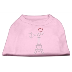 Mirage Pet Products Paris Rhinestone Shirts Light Pink XXXL(20)