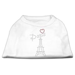 Mirage Pet Products Paris Rhinestone Shirts White L (14)