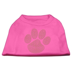 Mirage Pet Products Gold Paw Rhinestud Shirt Bright Pink S (10)