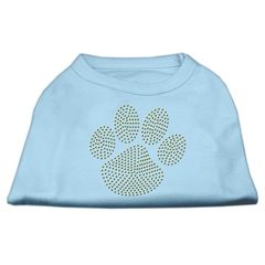 Mirage Pet Products Gold Paw Rhinestud Shirt Baby Blue M (12)