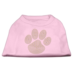 Mirage Pet Products Gold Paw Rhinestud Shirt Light Pink XL (16)