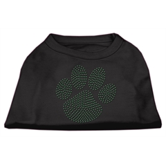 Mirage Pet Products Green Paw Rhinestud Shirts Black L (14)