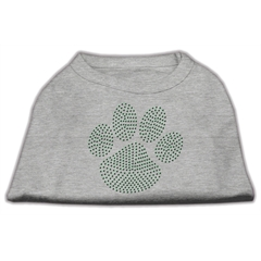 Mirage Pet Products Green Paw Rhinestud Shirts Grey S (10)