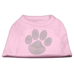 Mirage Pet Products Green Paw Rhinestud Shirts Light Pink S (10)