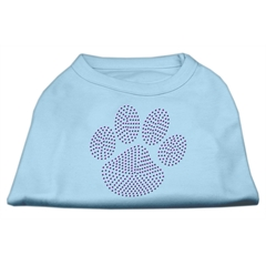 Mirage Pet Products Purple Paw Rhinestud Shirts Baby Blue XL (16)