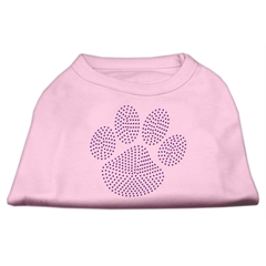 Mirage Pet Products Purple Paw Rhinestud Shirts Light Pink L (14)
