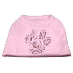 Mirage Pet Products Red Paw Rhinestud Shirts Light Pink S (10)