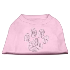 Mirage Pet Products Clear Rhinestone Paw Shirts Light Pink L (14)