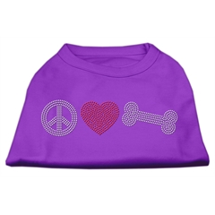 Mirage Pet Products Peace Love and Bone Rhinestone Shirt Purple M (12)