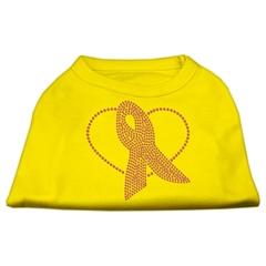 Mirage Pet Products Pink Ribbon Rhinestone Shirts Yellow XL (16)