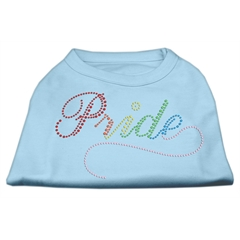 Mirage Pet Products Rainbow Pride Rhinestone Shirts Baby Blue XL (16)