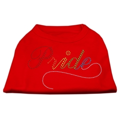 Mirage Pet Products Rainbow Pride Rhinestone Shirts Red XS (8)