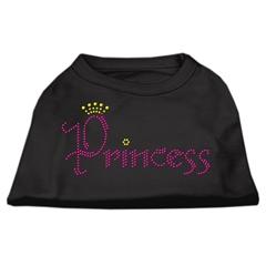 Mirage Pet Products Princess Rhinestone Shirts Black XL (16)