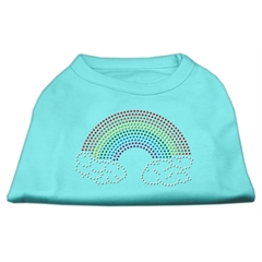 Mirage Pet Products Rhinestone Rainbow Shirts Aqua L (14)