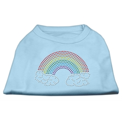 Mirage Pet Products Rhinestone Rainbow Shirts Baby Blue XS (8)