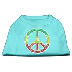 Mirage Pet Products Rasta Peace Sign Shirts Aqua XXL (18)