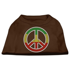 Mirage Pet Products Rasta Peace Sign Shirts Brown Sm (10)