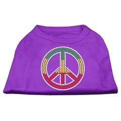 Mirage Pet Products Rasta Peace Sign Shirts Purple XS (8)