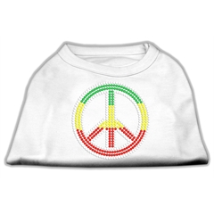 Mirage Pet Products Rasta Peace Sign Shirts White L (14)