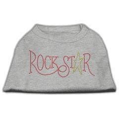 Mirage Pet Products RockStar Rhinestone Shirts Grey XXL (18)