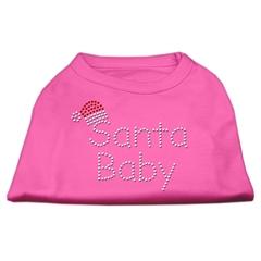 Mirage Pet Products Santa Baby Rhinestone Shirts  Bright Pink M (12)