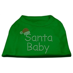 Mirage Pet Products Santa Baby Rhinestone Shirts Emerald Green Lg (14)
