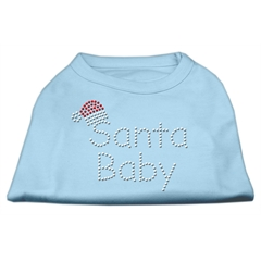 Mirage Pet Products Santa Baby Rhinestone Shirts  Baby Blue M (12)