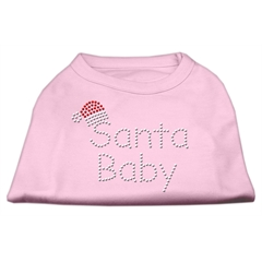 Mirage Pet Products Santa Baby Rhinestone Shirts  Light Pink XL (16)