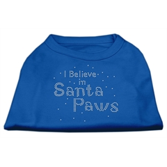 Mirage Pet Products I Believe in Santa Paws Shirt Blue XS (8)