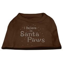 Mirage Pet Products I Believe in Santa Paws Shirt Brown XL (16)